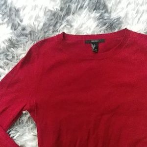 Forever 21 red thin sweater s